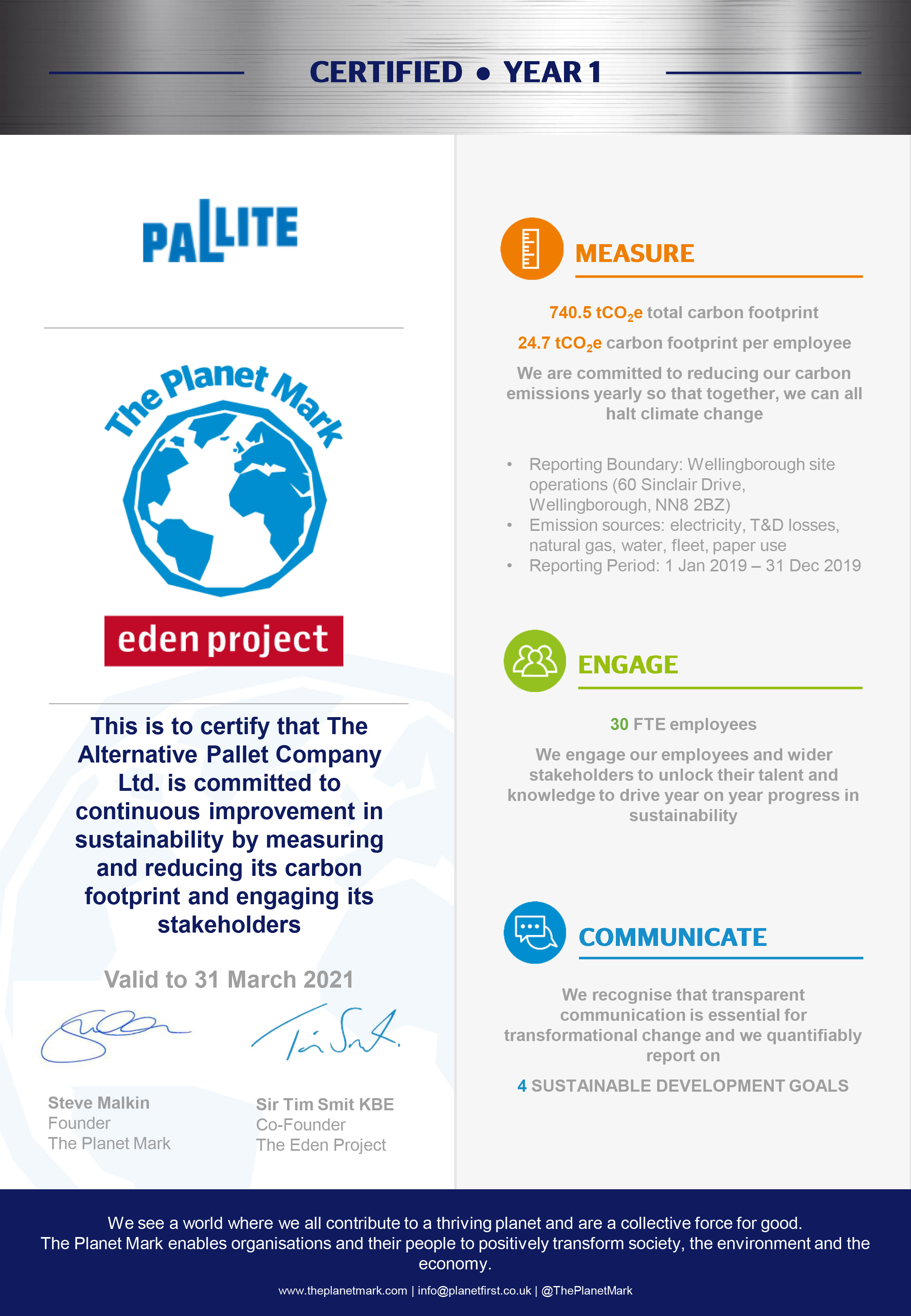 The Planet Mark Sustainability Certification